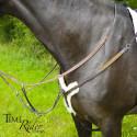 Rênes caoutchouc 13mm TIME Rider Platinium - Boucle argent