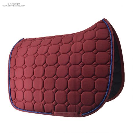 Tapis de selle dressage bordeaux TIME Rider