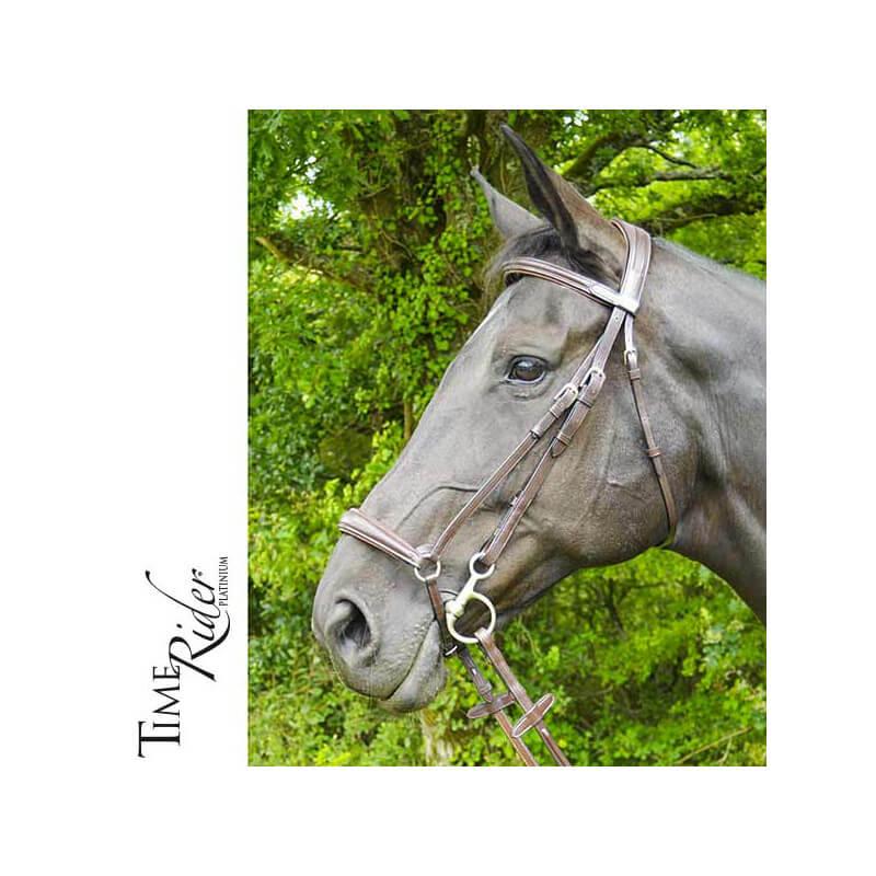 Muserolle allemande TIME Rider Platinium - Bouclerie Argent