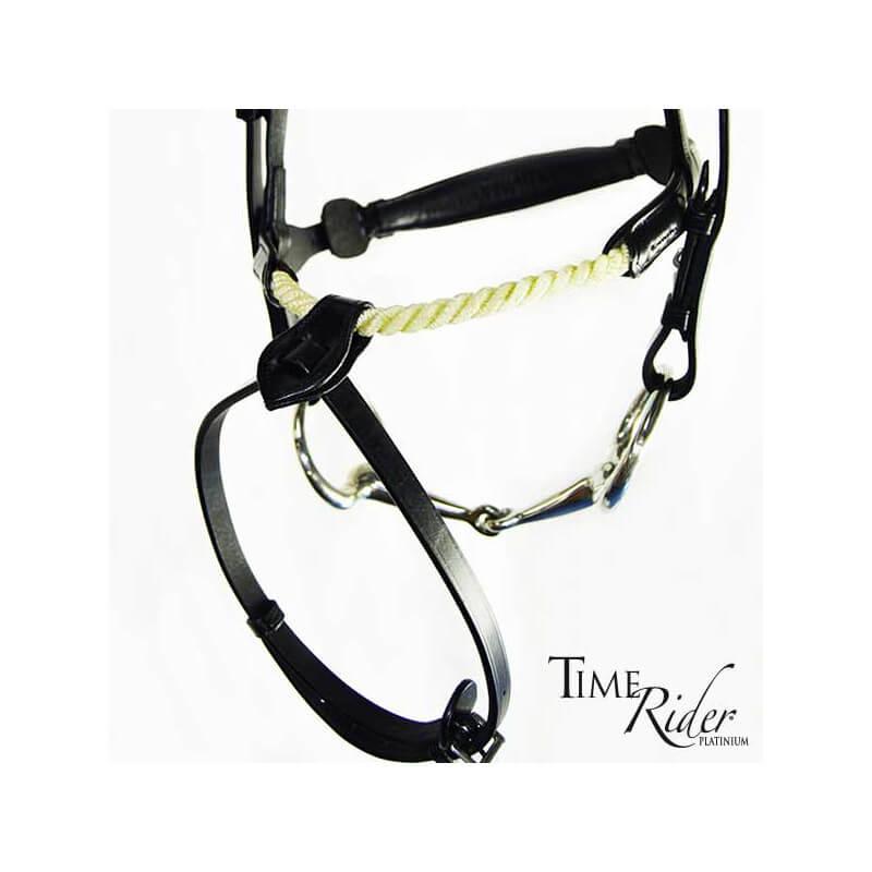 Muserolle corde TIME Rider Platinium - Bouclerie Argent