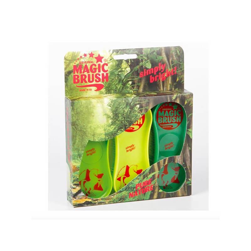 Pack de 3 étrilles Magik Brush