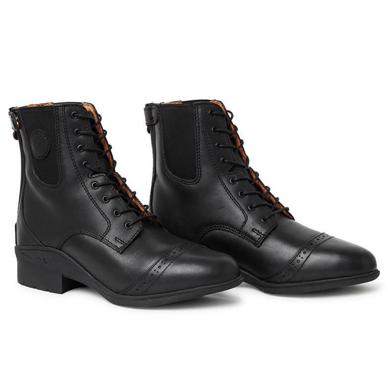 bottines à lacets et zipé noir