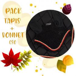 PACK TAPIS + BONNET NOIR TIME RIDER SPORT