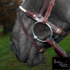 Muserolle corde TIME Rider Platinium - Bouclerie Or