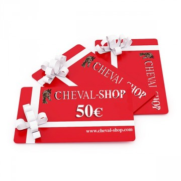 CHEQUE-CADEAU CHEVAL-SHOP WEB 50€