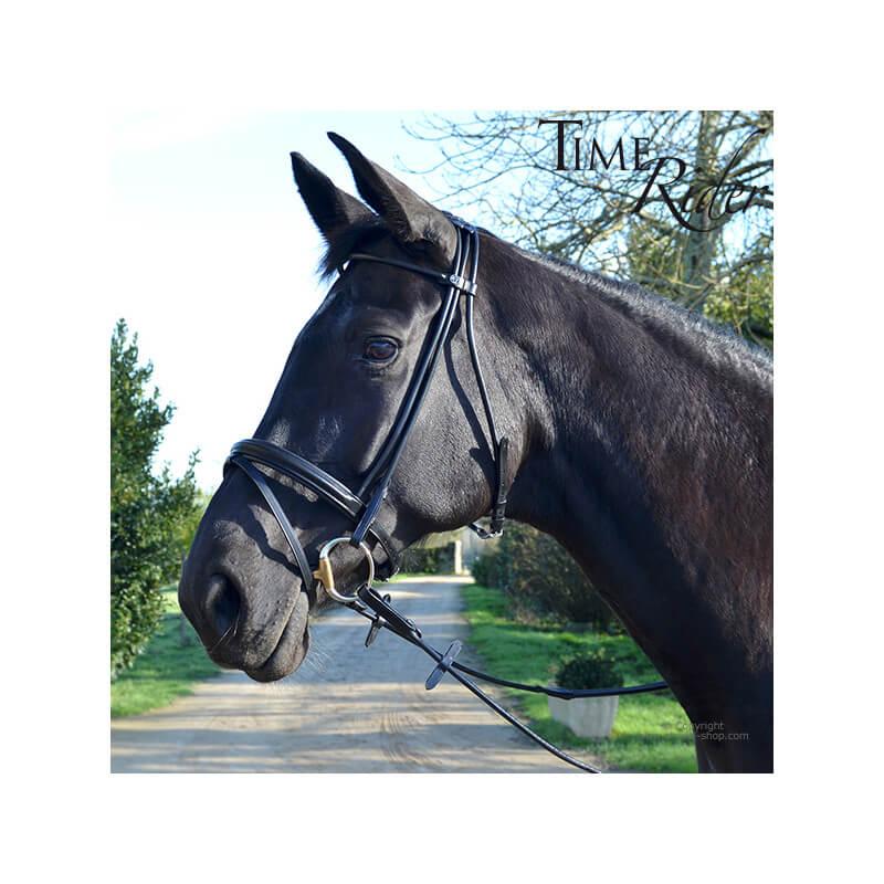 Bridon cuir rond TIME Rider Sport